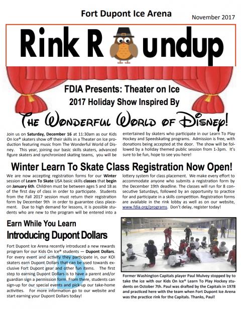 FDIA November Newsletter 2017